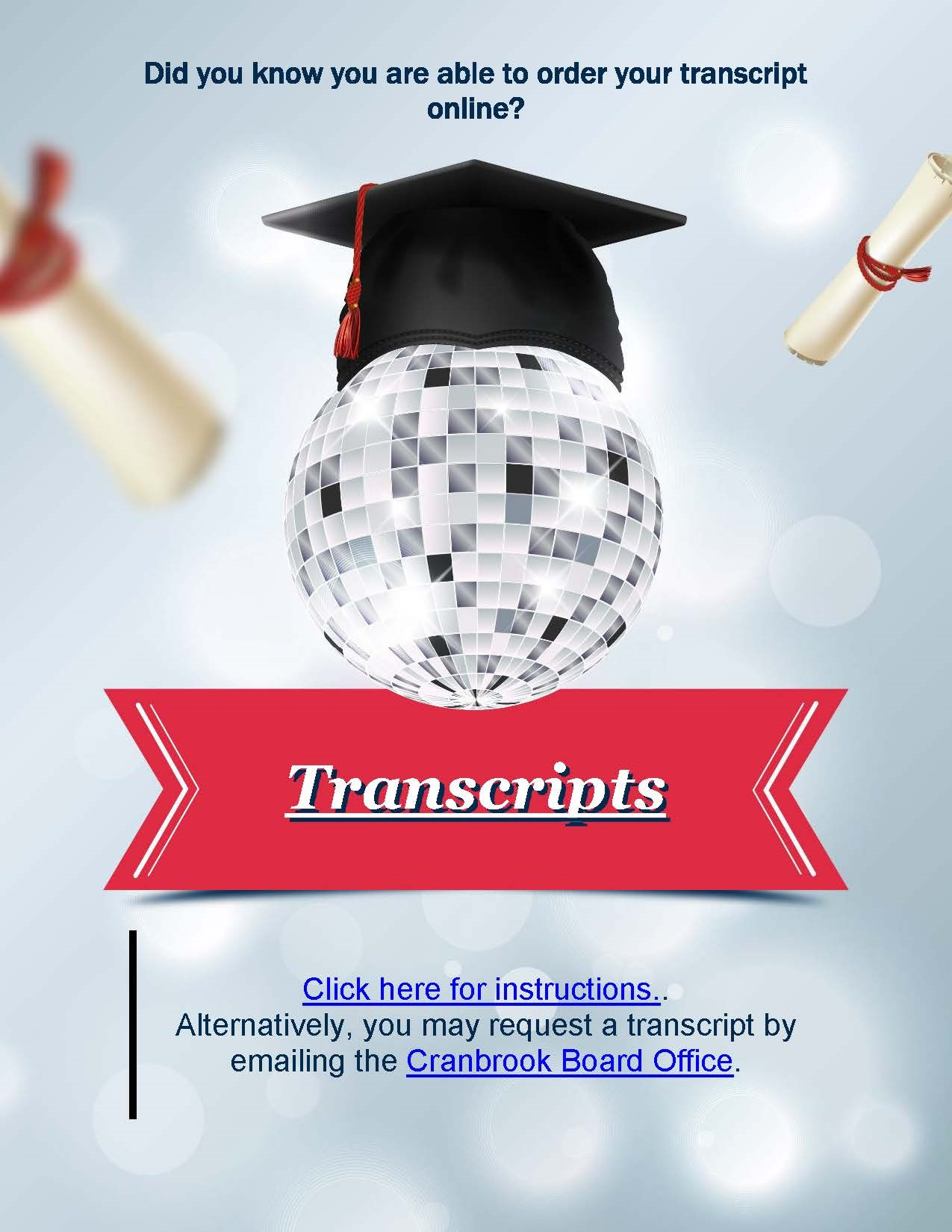 Order Your Transcripts Online