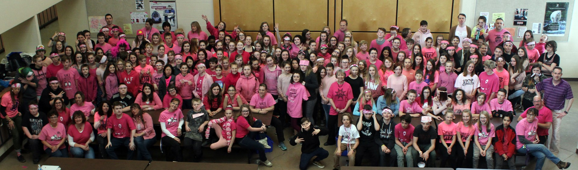Pink Shirt Day at Parkland Middle School!