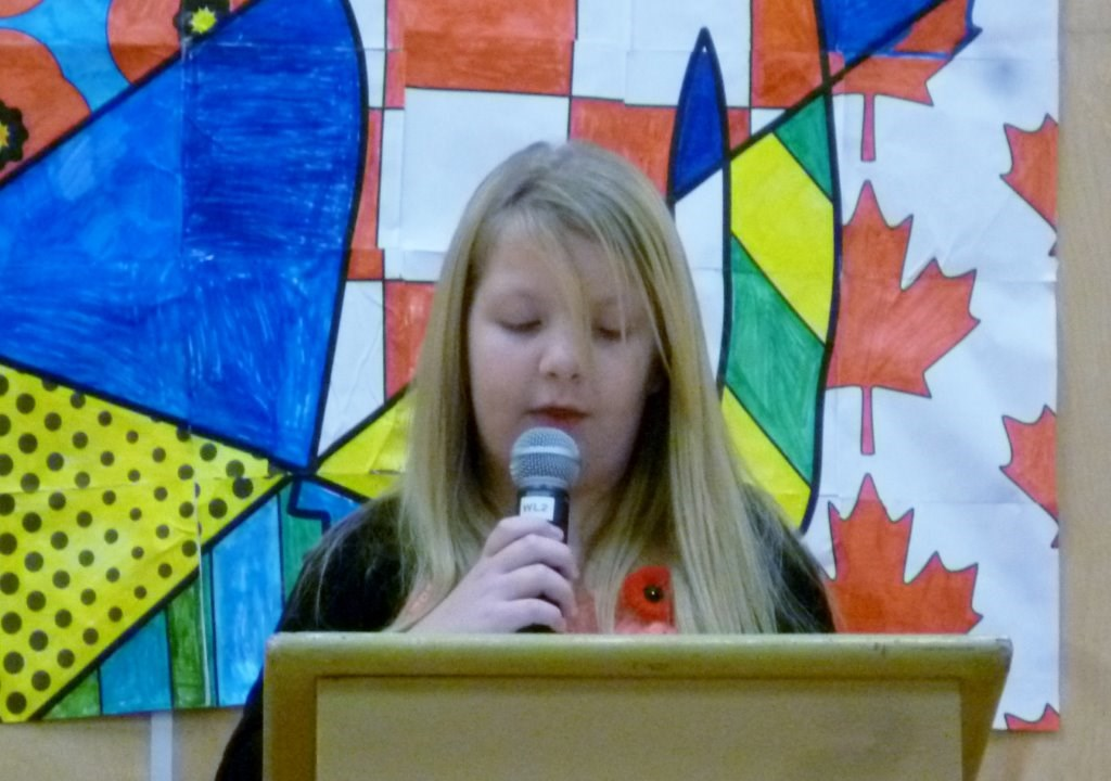 Remembrance Day Ceremony at Pinewood Elementary School