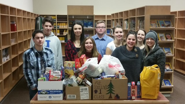 Sparwood Secondary School Students' Food Drive
