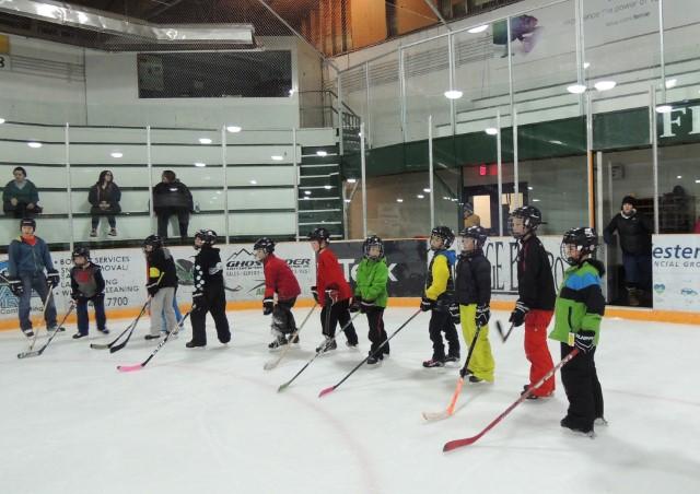 Skating and Hockey Skills Program at Isabella Dicken Elementary School
