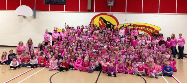 F.J. Mitchell Elementary School Goes Pink!!