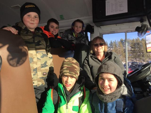 Last Bus Run for Cathy Pavlis!