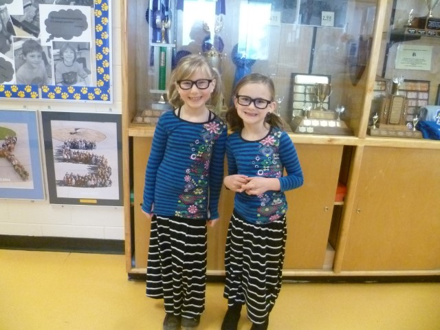 Twin Day at Pinewood Elementary School