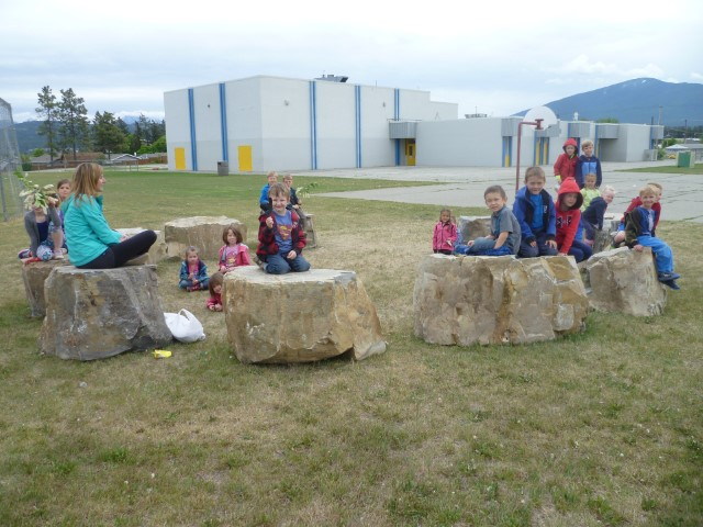 Sitting Stones at Pinewood Elementary