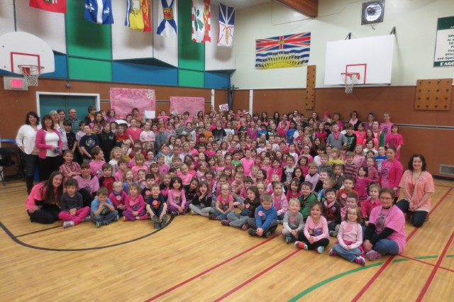 Pink Shirt Day at Amy Woodland Elementary School