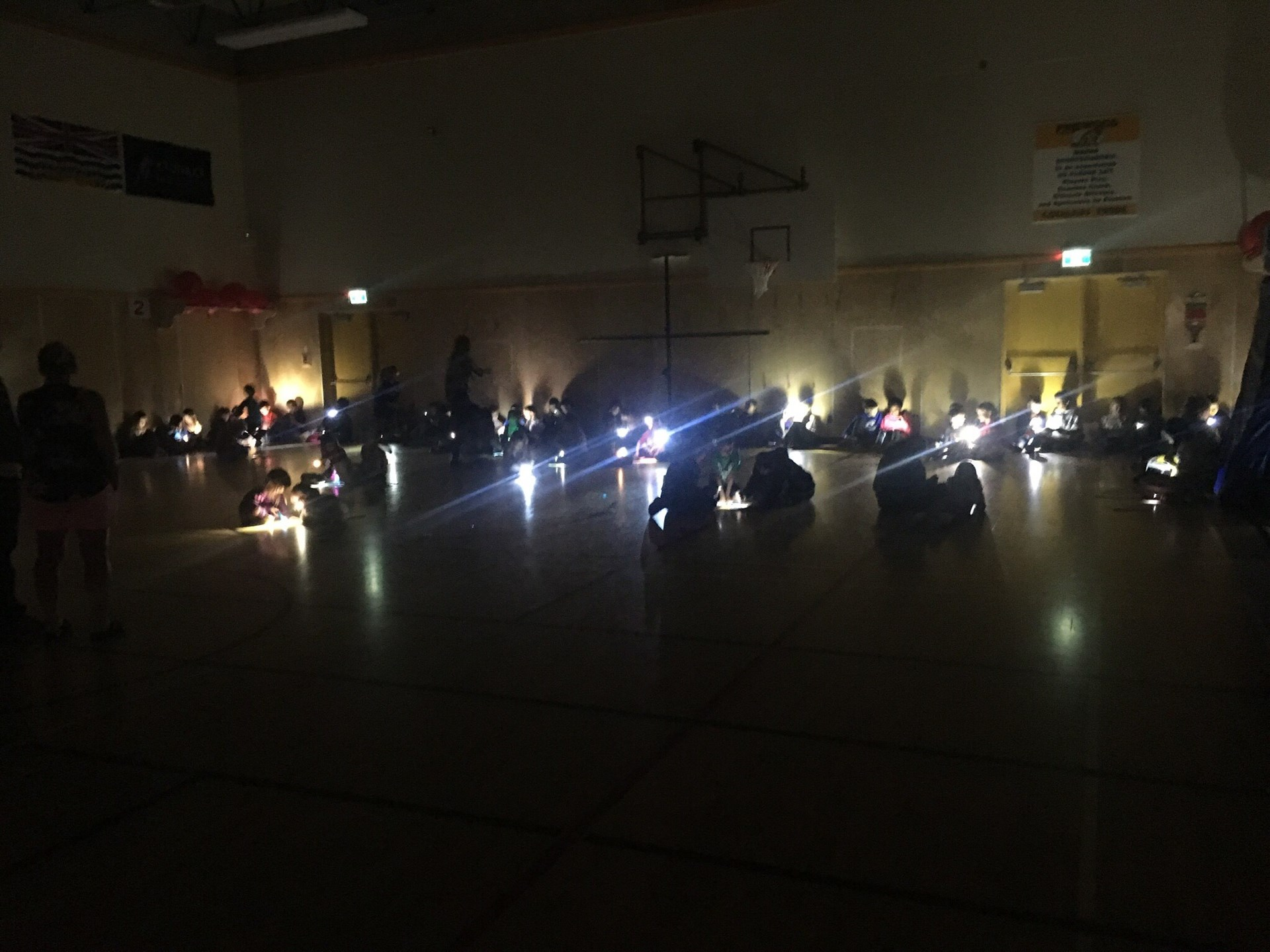 Flashlight Friday at Pinewood Elementary School