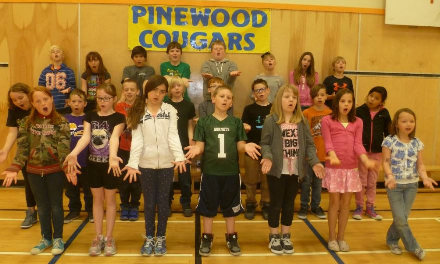 Poetry Assembly at Pinewood Elementary School