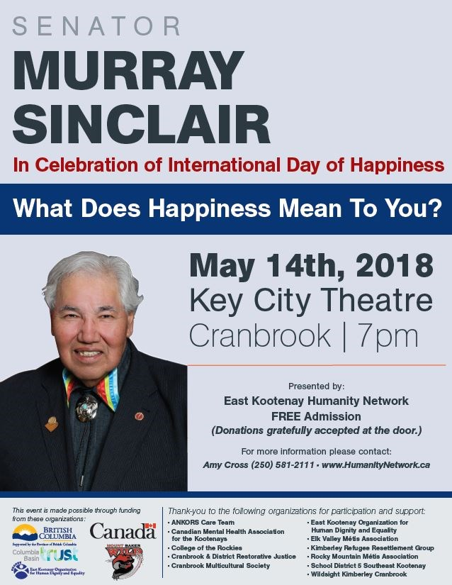 Senator Murray Sinclair - May 14, 2018 at the Key City Theatre