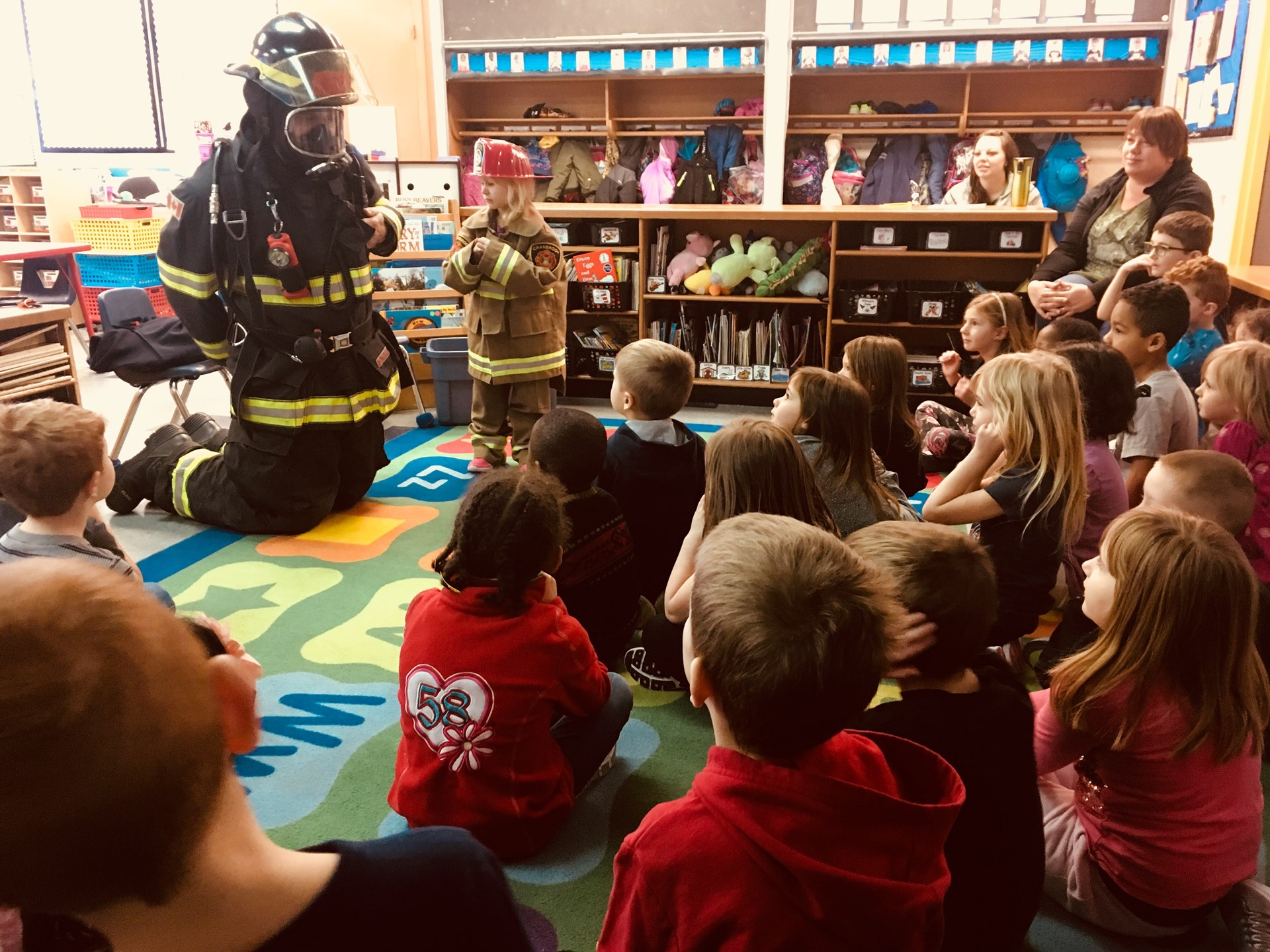 Fire Safety Demonstration at Steeples Elementary School